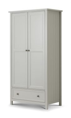 Maine 2 Door Combination Wardrobe Dove Grey