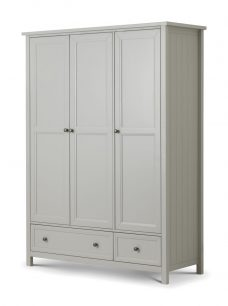 Maine 3 Door Combination Wardrobe Dove Grey