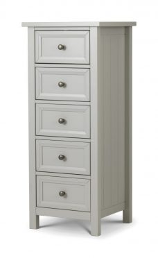 Maine 5 Drawer Tall Chest Dove Grey
