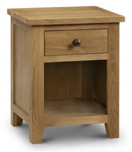 Marlborough Oak 1 Drawer Bedside