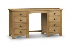 Marlborough Oak Twin Pedestal Dressing Table