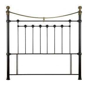 Victoria Metal Headboard Satin Black