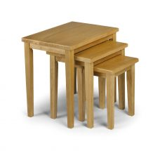 Cleo Nest of Tables - Light Oak Finish