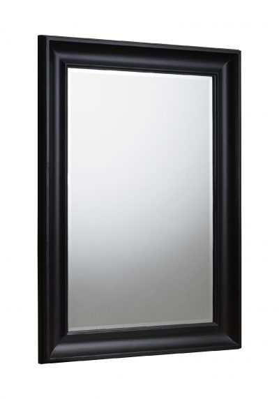 Forte Black Wall Mirror
