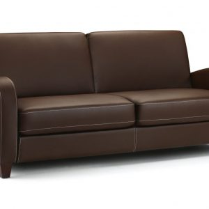 Vivo 3 Seater Sofa Chestnut Faux Leather