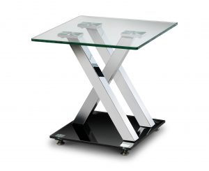 X-Frame Glass Lamp Table