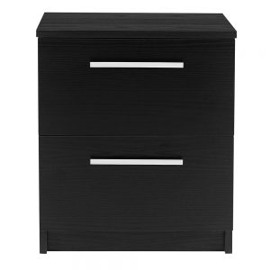 Designa 2Drawer Bedside Black Ash