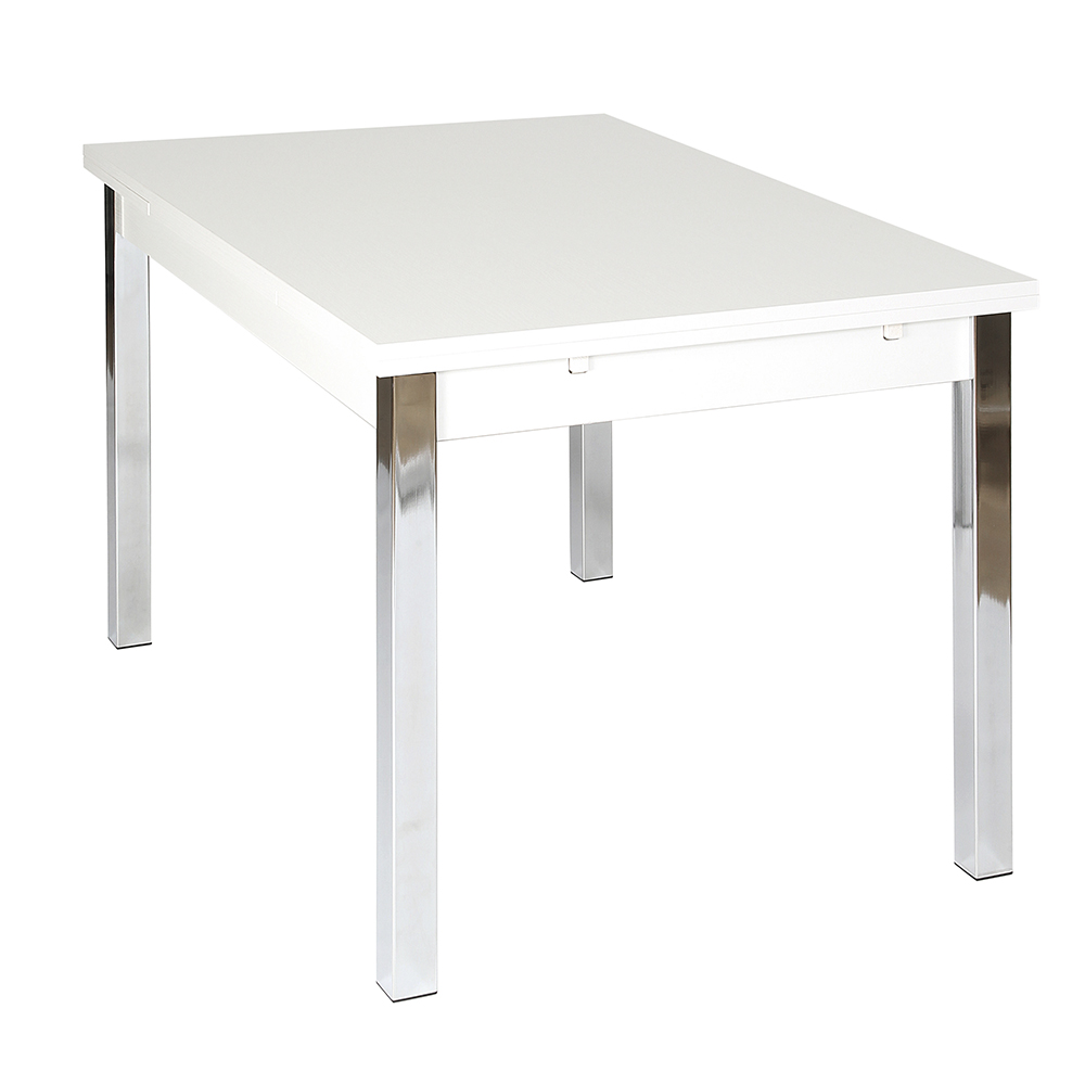 Designa extending dining table white 120cm crazy house furniture - White extending dining tables ...