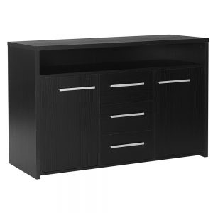 Designa 3Drawer 2Door Sideboard Black