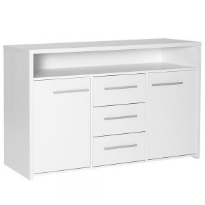 Designa 3Drawer 2Door Sideboard White