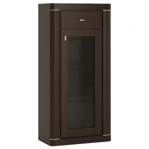 Camden Narrow 1 Door 1 Drawer Glazed Cabinet