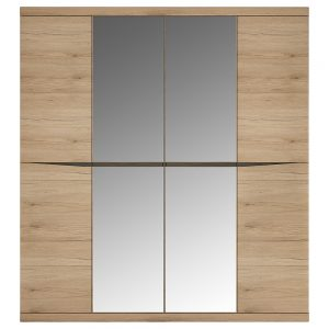 Kensington 4 Door Mirrored Wardrobe
