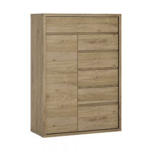 Shetland 1 Door 6 Drawer Cupboard