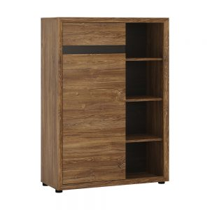 Messina 1 Door 1 Drawer Cupboard Bookcase