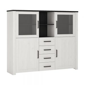 Provence Wide Glazed Display Cabinet