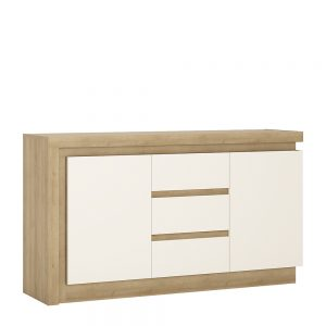 Lyon Sideboard Riviera Oak White High Gloss