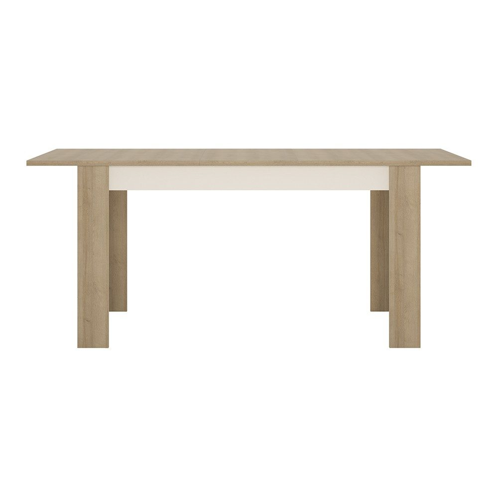 Lyon Medium Extending Dining Table Oak White Gloss