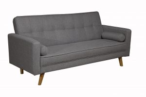 Boston Charcoal Grey Fabric 3 Seater Sofa Bed
