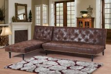 Charles Brown Upholstered Corner Sofa Bed & Chaise