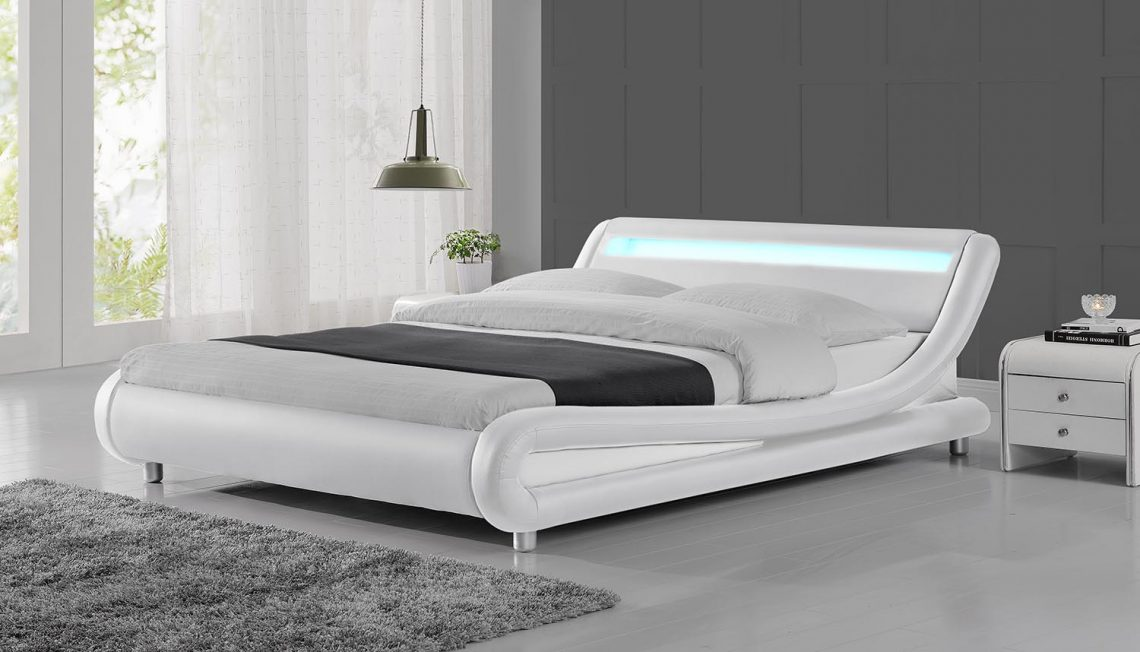 modern king size beds led lights white modern designer bed frame house 16391