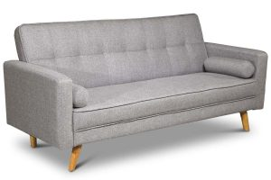 Boston Grey Fabric 3 Seater Sofa Bed