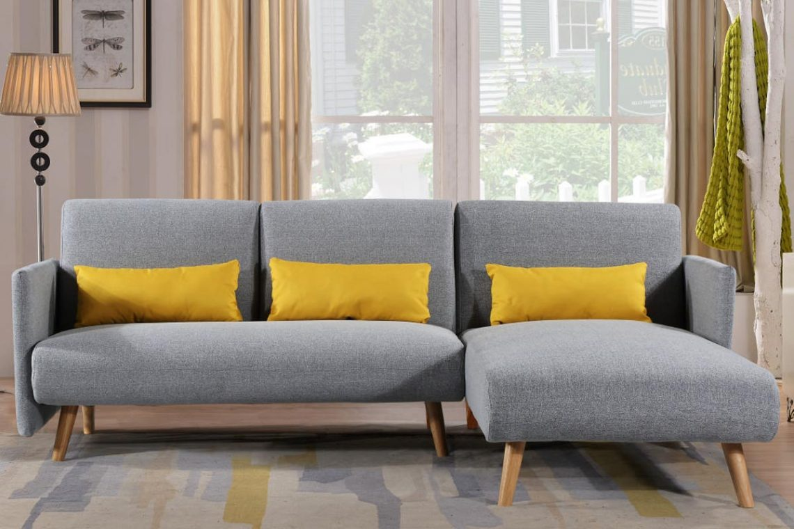 Wondrous Los Angeles Light Grey Fabric Corner Sofa Bed Chaise Caraccident5 Cool Chair Designs And Ideas Caraccident5Info