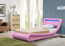 Leo Designer Curved LED Bed