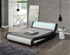 Leo Designer Curved LED Bed - Double