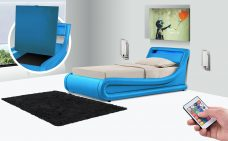 Leo Designer LED Ottoman Bed - Single