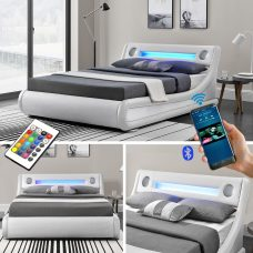 Leo Designer LED Ottoman Bluetooth Bed - KingSize