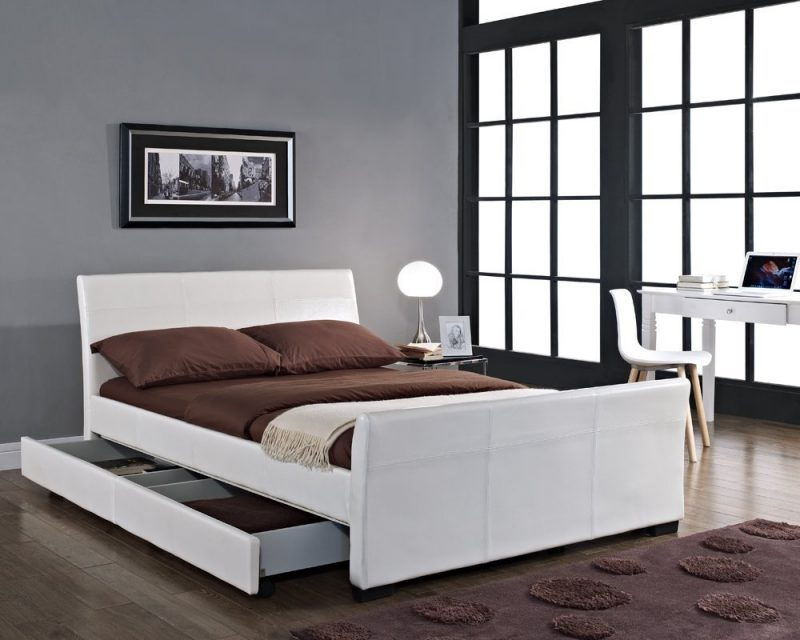 Havanah Sleigh 4 Drawer Bed - Double