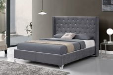Eliza Designer Wingback Bed - Double