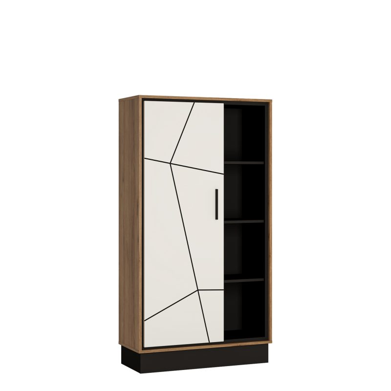 Brolo Wide 1 Door Bookcase