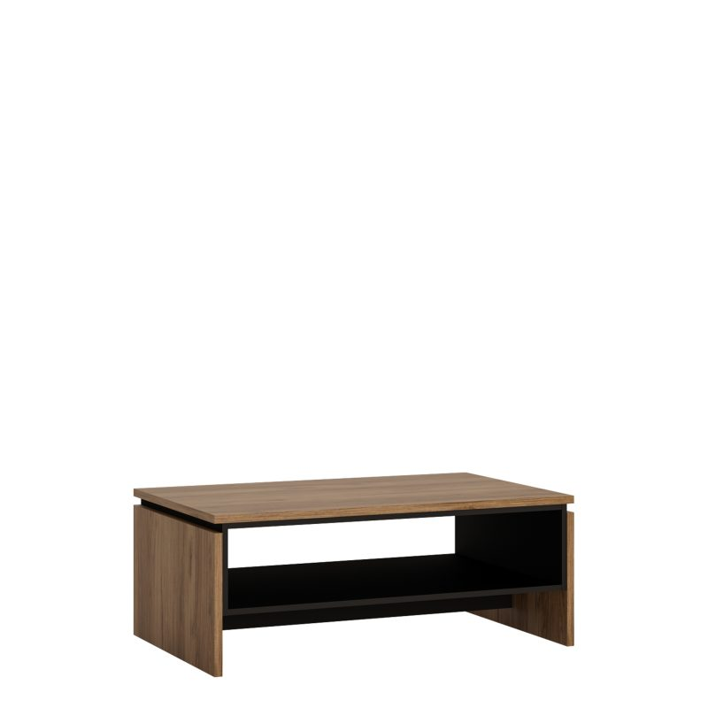 Brolo Coffee Table With Walnut and Dark Panel Finish