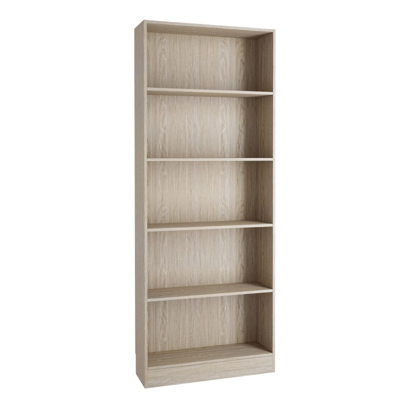 Basic Tall Wide Bookcase (4 Shelves) Oak